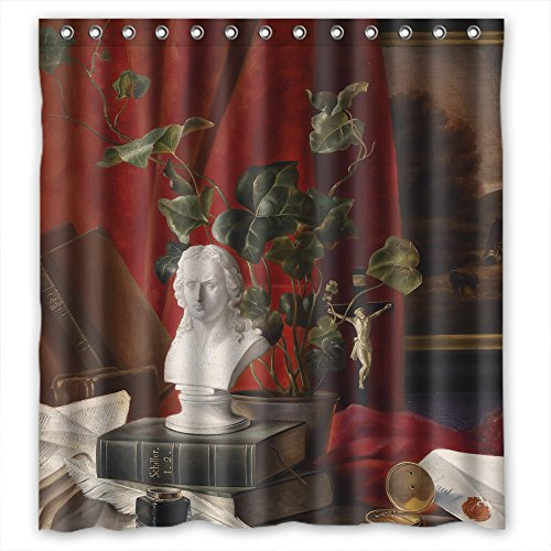 MaSoyy Classic Still Life Art Painting Polyester Bath Curtains Width X Height / 66 X 72 Inches / W H 168 By 180 Cm For Couples Boys Bf Boys Custom. -