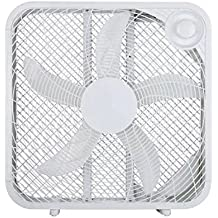 "3 Speed High Airflow 20"" Box Fan, White, FB50-16H"