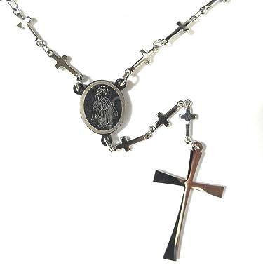 Moda mavilla Collar para hombre y mujer rosario cruces de ...