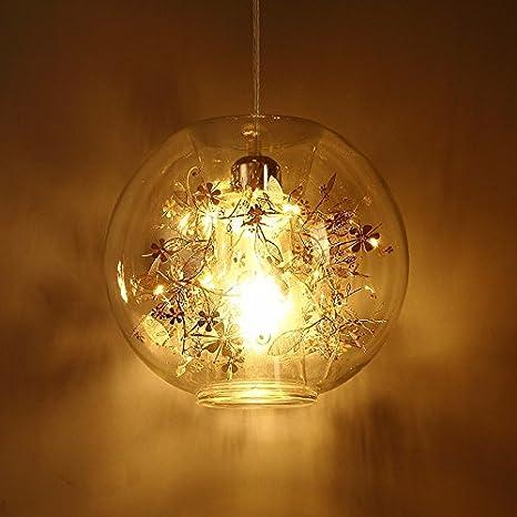 Wei/ß GQLB Kronleuchter aus Glas Wohnzimmer Light Bar Lights, 270 * 245 Mm, Lampen Kunst Wohnzimmer Gold