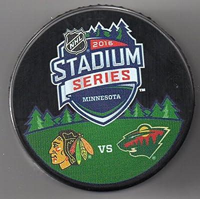2016 Stadium Series Chicago Blackhawks vs Minnesota Wild TCF Bank Stadium NHL Hockey Puck + FREE Cube