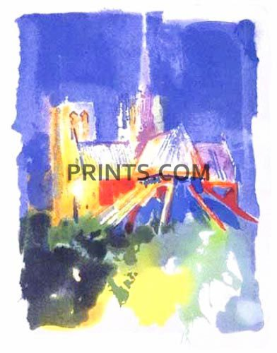 LeRoy Neiman - Notre Dame Open Edition Serigraph on Paper