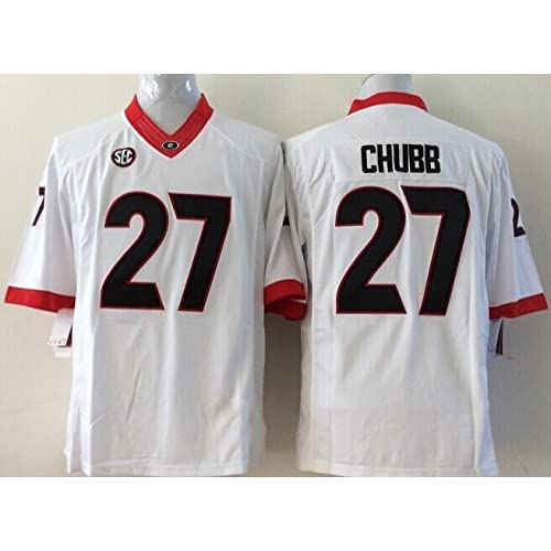 ... Football Jersey  famous brand feef7 bdf9b outlet SunshineSmile Mens  Georgia Bulldogs Football Shirt NO.27 Chubb Adults ... 279d4fc2c