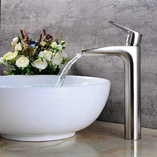 立体水栓 蛇口 現代のクロム浴室洗面台の蛇口キッチンシンクトップ盆地実用的な美しいハイ節ホットとコールド銅の連絡先の蛇口 万能水栓 台付