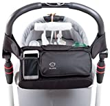 Stroller Organizer with Removable Shoulder Strap - Universal Fit - Premium Quality Diaper Bag & Stroller Cup Holder - Perfect Baby Shower Gift