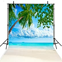 Beach Backdrops For Photography 6Feet-8Feet Trees Photo Background Props Children Backdrops Vinly Photographic Backdrops