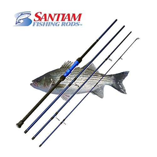 Santiam Fishing Rods Travel 4 Piece 11' 17-40lb Surf Rod