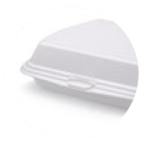 alfombrilla de ratón caja del alimento de la espuma de poliestireno cerrada - ronda - 20cm