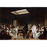 Canvas Prints Of Oil Painting ' Boilly, Louis-Leopold_1807_A Game Of Billiards ' , 20 x 29 inch / 51 x 72 cm , High Quality Polyster Canvas Is For Gifts And Bar, Dining Room And Living Room Decoration