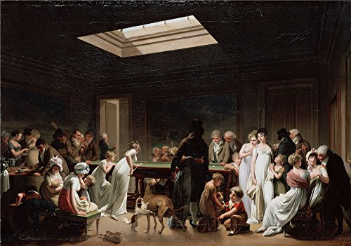 Oil Painting 'Boilly, Louis-Leopold_1807_A Game Of Billiards', 8 x 11 inch / 20 x 29 cm , on High Definition HD canvas prints is for Gifts And Bar, Dining Room - Chicago Store Target Hours