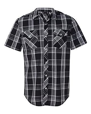 Burnside Mens Plaid Short Sleeve Shirt (9202)