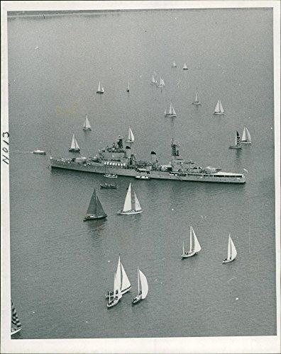 Vintage photo of HMS Tiger Ship