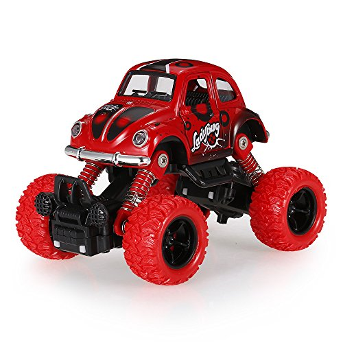 Goolsky Classic Pull Back Car 1/36 Alloy 4WD Big Wheels Shock Resistant Off Road Climbing Car 2 Doors Open Pull Back Vehicle Toy (4wd Alloy Wheels)