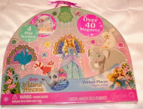 Barbie as The Island Princess Perfect Places Magnetic Activity Playset -
