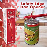 6 in 1 Safety Edge Manual Can Opener, Jar