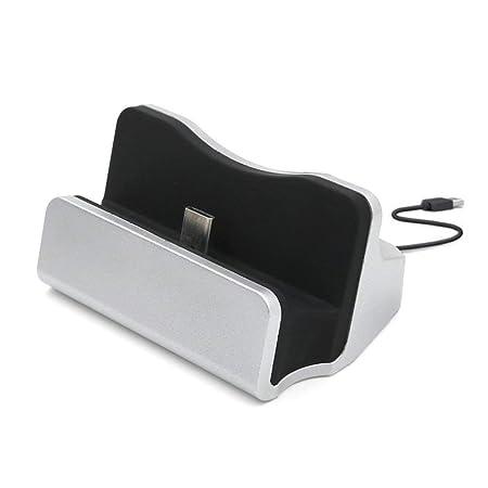 Isuper USB 2.0 Tipo-C Teléfono estación de Muelle del Cargador de sincronización de Datos del Cargador del Soporte de sobremesa para su Casa
