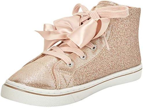 JoJo Siwa Girls Hi-Top Glitter Sneakers