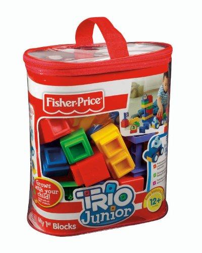 Fisher-Price TRIO Junior My First Blocks - Primary Colors (Construction Trio Set)