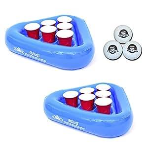 Amazon Com Gopong Pool Pong Rack Floating Beer Pong Set