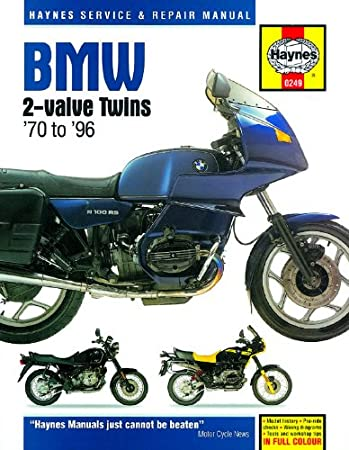 bmw r45 r50 r65 r75 r80 r100 r100rt 1970 1996 haynes manual hy0249 rh amazon co uk