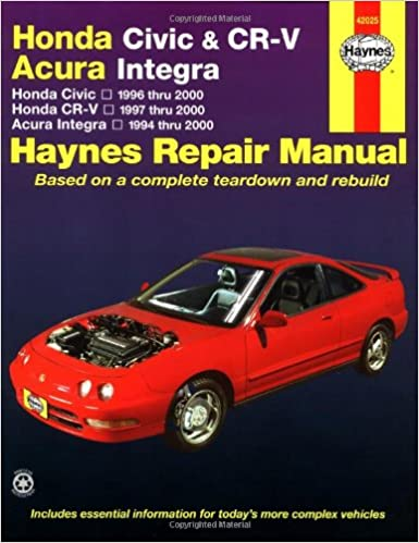 Honda civic 1996 2000 honda cr v 1997 2000 acura integra 1994 honda civic 1996 2000 honda cr v 1997 2000 acura integra 1994 2000 haynes automotive repair manual larry warren alan ahlstrand john h haynes fandeluxe Gallery