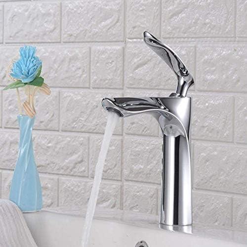 Gulakey 水タップシングルハンドルの蛇口シンク送料流域水栓浴室の蛇口温水と冷水のミキサーのタップクロームブラストイレシンク水タップデッキは、タップをマウント