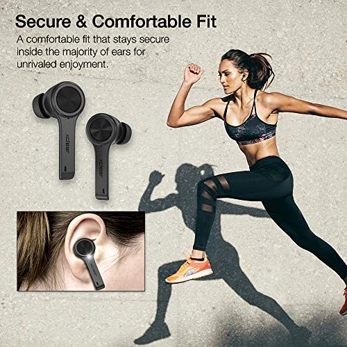 XClear Wireless Earbuds with Immersive Sounds True 5.0 Bluetooth in-Ear Headphones with Charging Case/Quick-Pairing Stereo Calls/Built-in Microphones/IPX5 Sweatproof/Pumping Bass for Sports Black 51O 4KGa6OL
