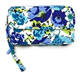 Vera Bradley All In One Cross-body Bag for iPhone 6 with Updated Solid Interiors (Blueberry Blooms with Blue Interiors)
