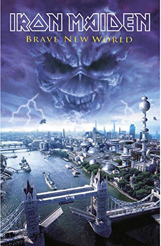 Iron Maiden Fabric Poster Flag - Brave New World