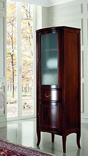 Colonna vetrina da bagno Sissi in legno: Amazon.it: Casa e cucina