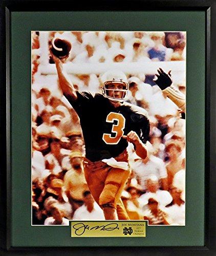 Joe Montana Notre Dame 11x14 Photograph (SG Signature Series) Framed