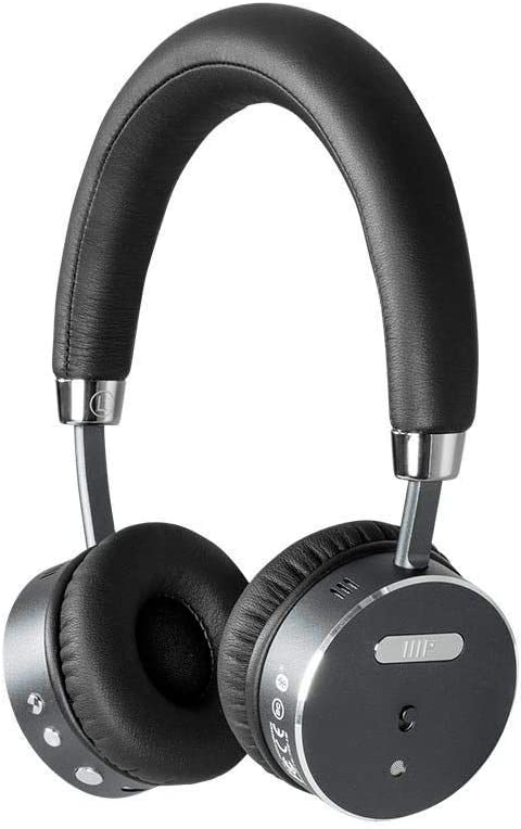 Monoprice BT-510ANC Wireless On Ear Headphone – Black Silver with ANC Active Noise Cancelling, Bluetooth, Extended Playtime