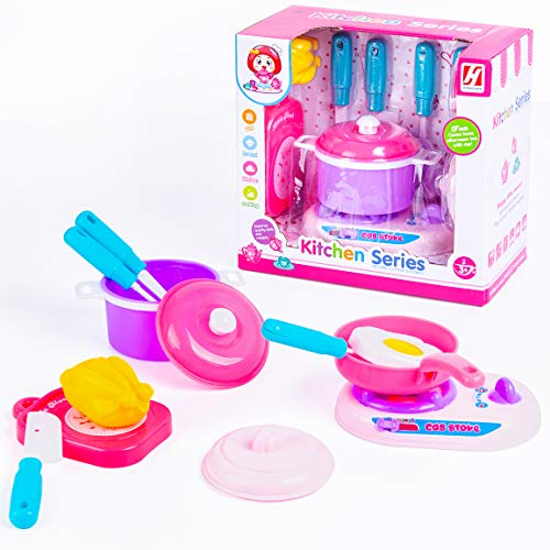 NYOKU Kitchen Toys for Toddlers,Kids Kitchen Accessories Pretend Play Food Toys Childrens Cooking Set with Pots and Pans Cookware Set Baby Toys Educational Toys Gifts for Ages 3+ Girls and Boys.