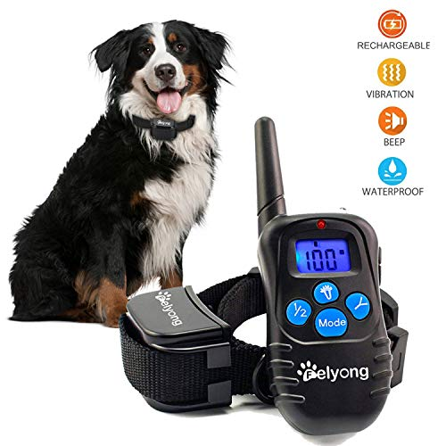 Dog Training Collar Shock Collar for Dogs Rechargeable and Waterproof dog shock collar with remote Beep Vibration and Shock Harmless bark Collar for Small Medium Large Dog, 1000ft Remote shock Electro