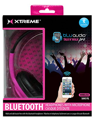 Xtreme Cables Talk N Walk Pro Bluetooth Headphones with Microphone for Smartphones and Tablets,