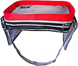 kids travel lap tray - Kids Car Seat Travel Lap Tray for Snack and Play, Easy to Clean Activity Table with Cup Holder and Removable Strap, Sturdy Toddler Lap Desk, Perfect for Traveling with Children, Lifetime Warranty