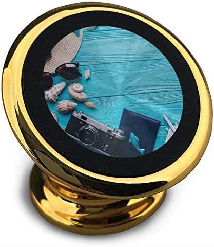 浜辺 携帯電話ホルダー おしゃれ 車載ホルダー 人気 磁気ホルダー 大きな吸引力 サポートフレーム 落下防止 360度回転