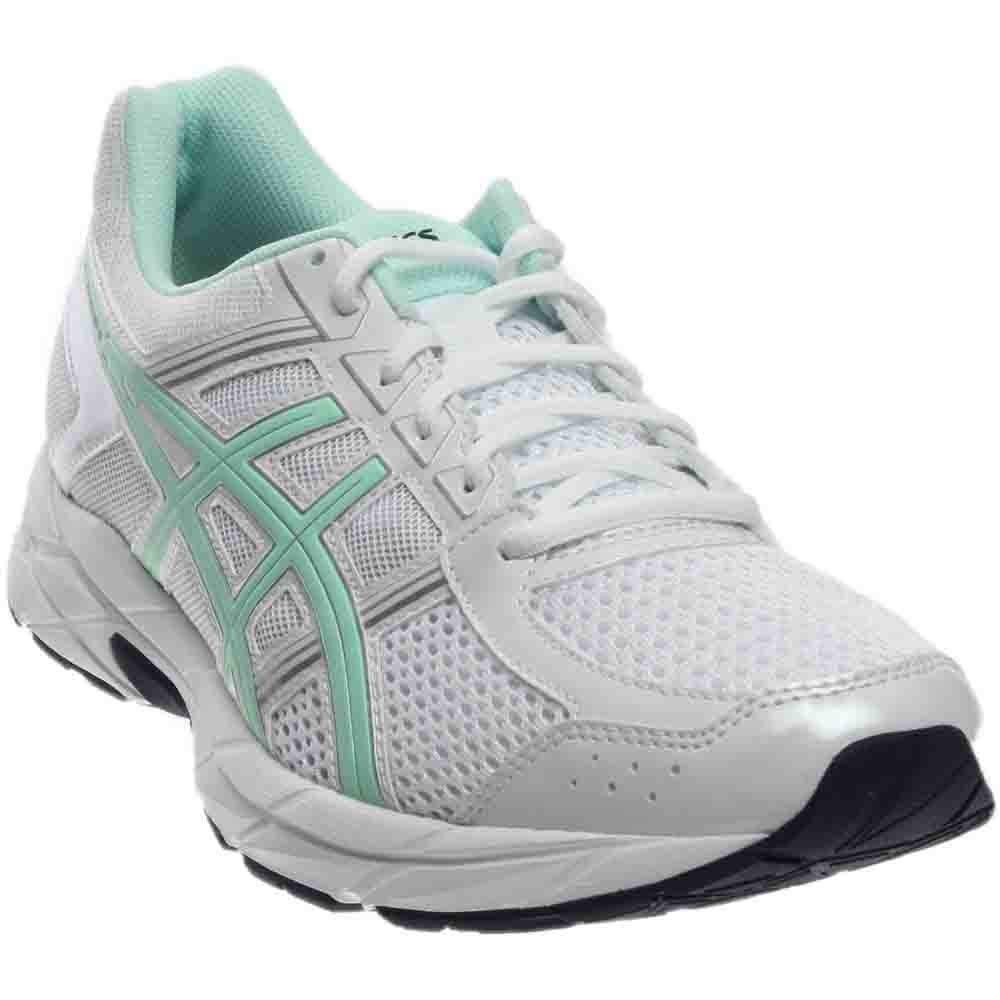 ASICS Women's Gel-Contend 4 Running Shoe, White/Bay/Silver, 5 M US