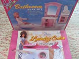 Barbie Size Dollhouse Furniture 2 Sets - Bathroom & Laundry Room
