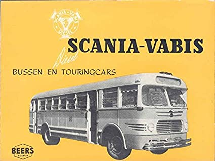 Amazon com: 1950 Scania Vabis Bus Brochure Poster Dutch