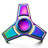 STRESS SPINNER Colorful Camo Fidget Tri Hand Spinning Finger Toy Stocking Stuffer for ADHD EDC Focus Relieves Anxiety and Boredom (Style 07)