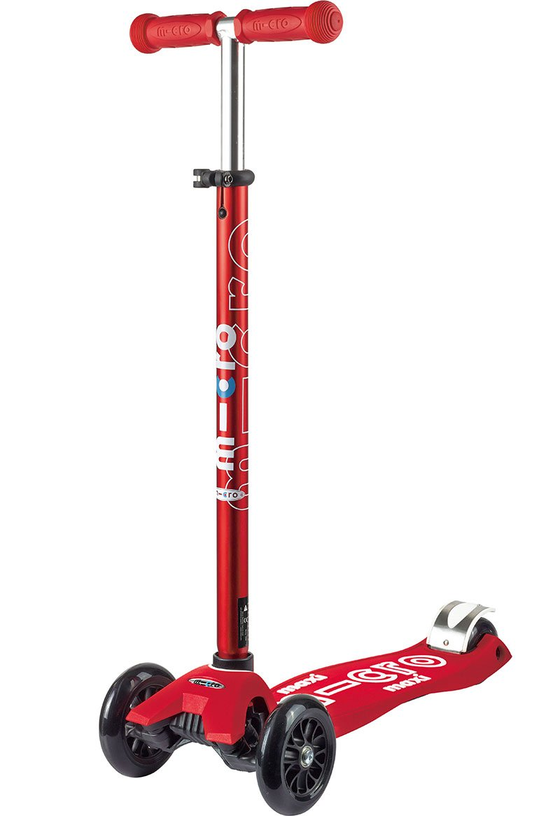 Micro Maxi Deluxe Kick Scooters (Red)