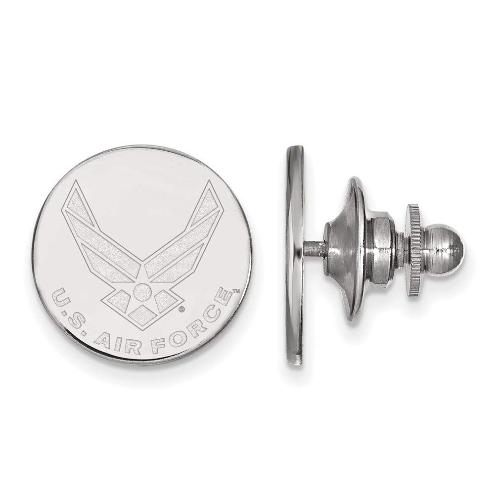 Rhodium-Plated Sterling Silver United States Air Force Tie Tac
