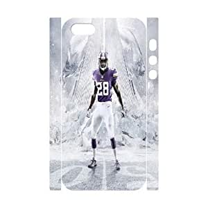 3D Yearinspace Adrian Peterson In The Snow For SamSung Galaxy S4 Mini Phone Case Cover Shock Absorb, For SamSung Galaxy S4 Mini Phone Case Cover Women Cheap For Girls With White
