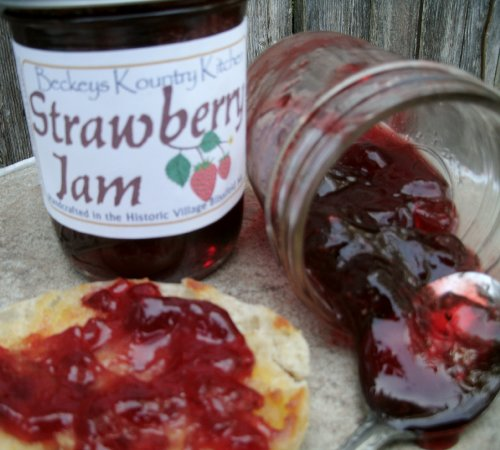 Homemade Strawberry Jam Fruit Preserves, Fruit Spread Gourmet Jam Holiday Gift Gift for Mom