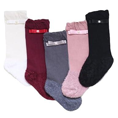 f8f4d9c5a333 Amazon.com  5 pairs lot - Girls Warm Winter Terry Socks Children ...