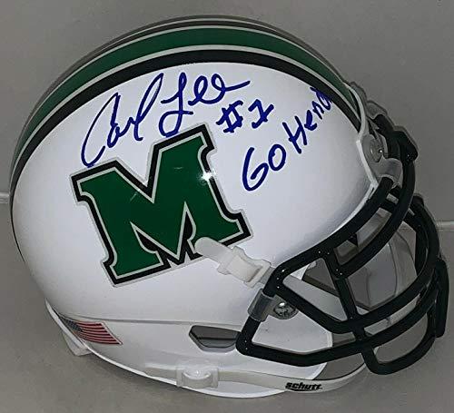Carl Lee Signed Mini Helmet - Marshall Thundering Herd - Autographed College Mini Helmets ()