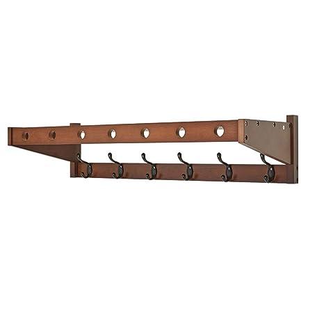 Amazon.com: Feifei - Perchero de pared de bambú para baño ...