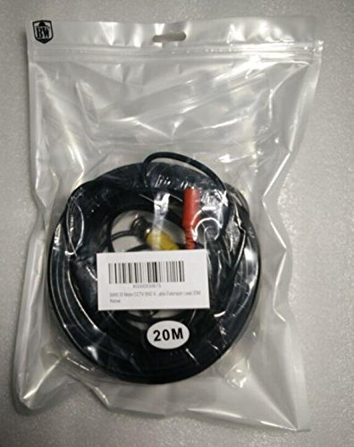 15M BW/® 15M // 49.2 Feet BNC Video Power Cable For CCTV Camera DVR Security System - Cable type: 0.2mm/² Cable OD: 4.0mm
