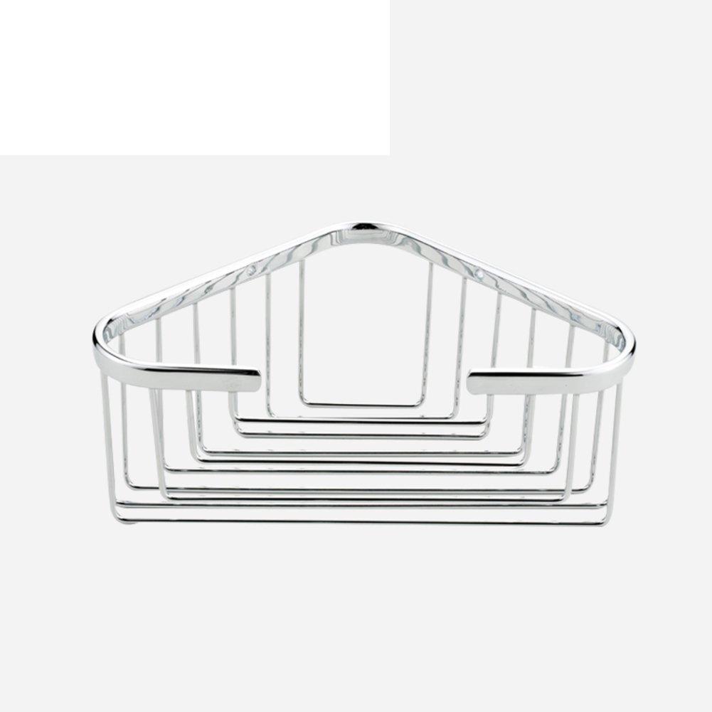low-cost Copper bathroom single storey triangular rack/basket with hooks/shelf -C